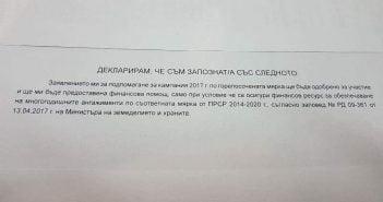 Декларация субсидии