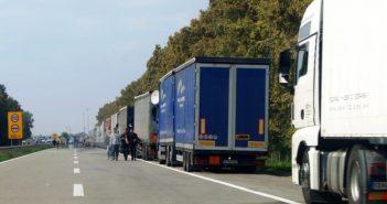 Камиони на границата
