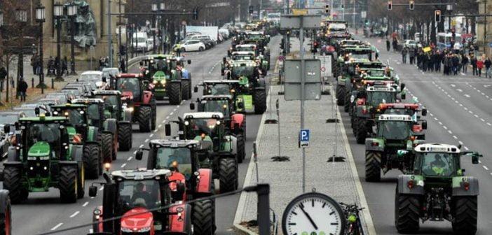 Протести фермери Германия